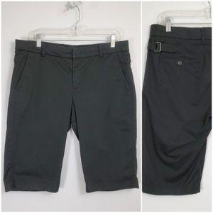 Vince Women's Navy side-buckle bermuda shorts